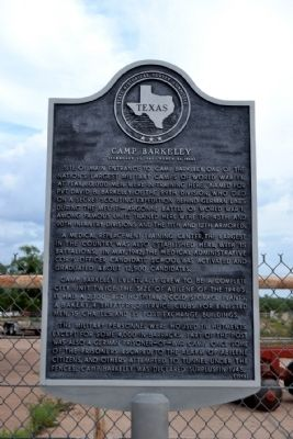 The marker as seen from highway 277.