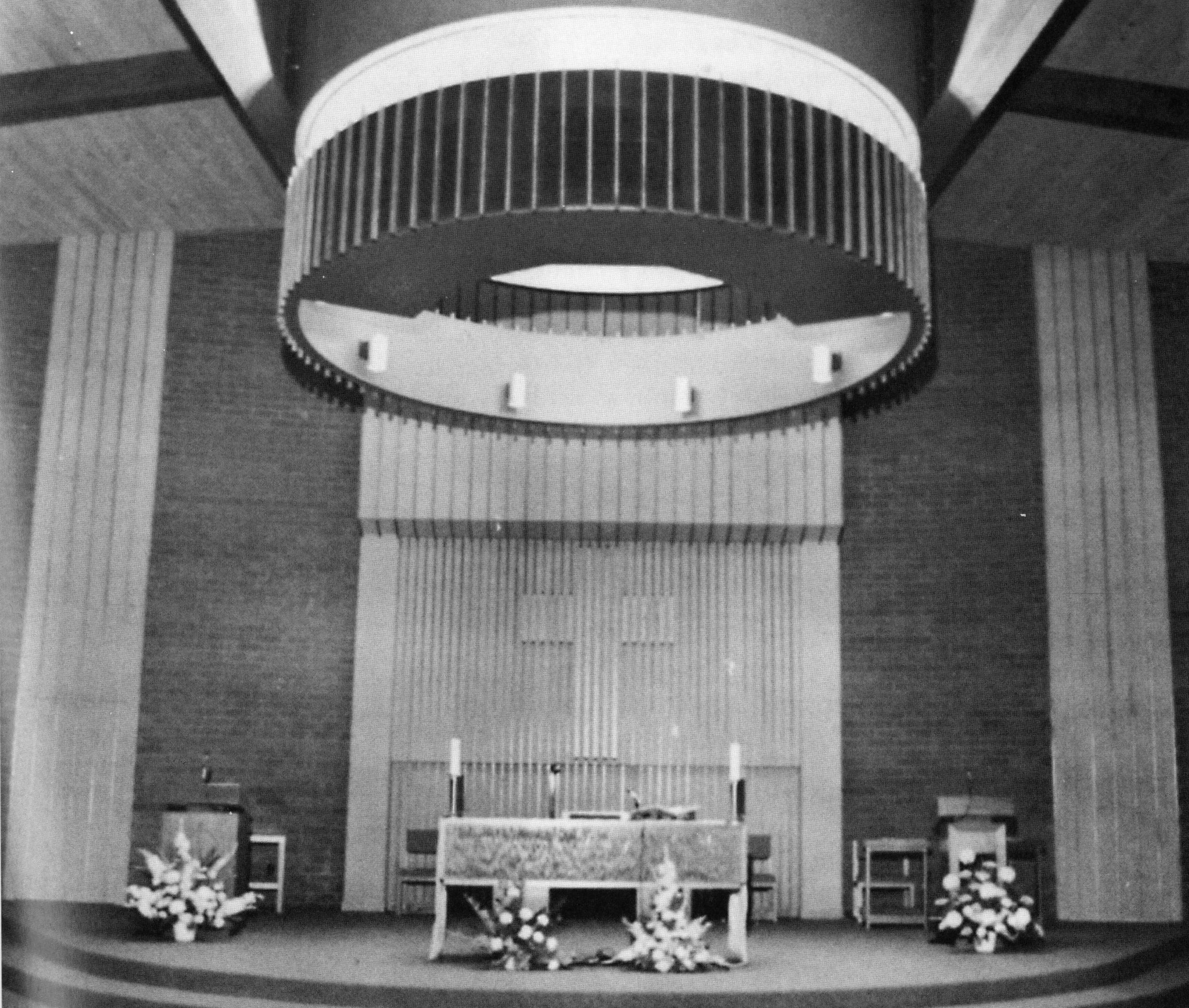 Interior of Sacred Heart Church, c. 1978.