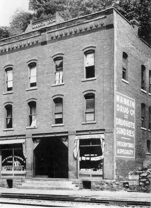 Mankin-Cox Building, date unknown; note date of construction above pediment