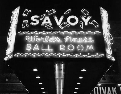 The Savoy Ballroom marquee announced the arrival of some of the most influential entertainers of the 20th century.