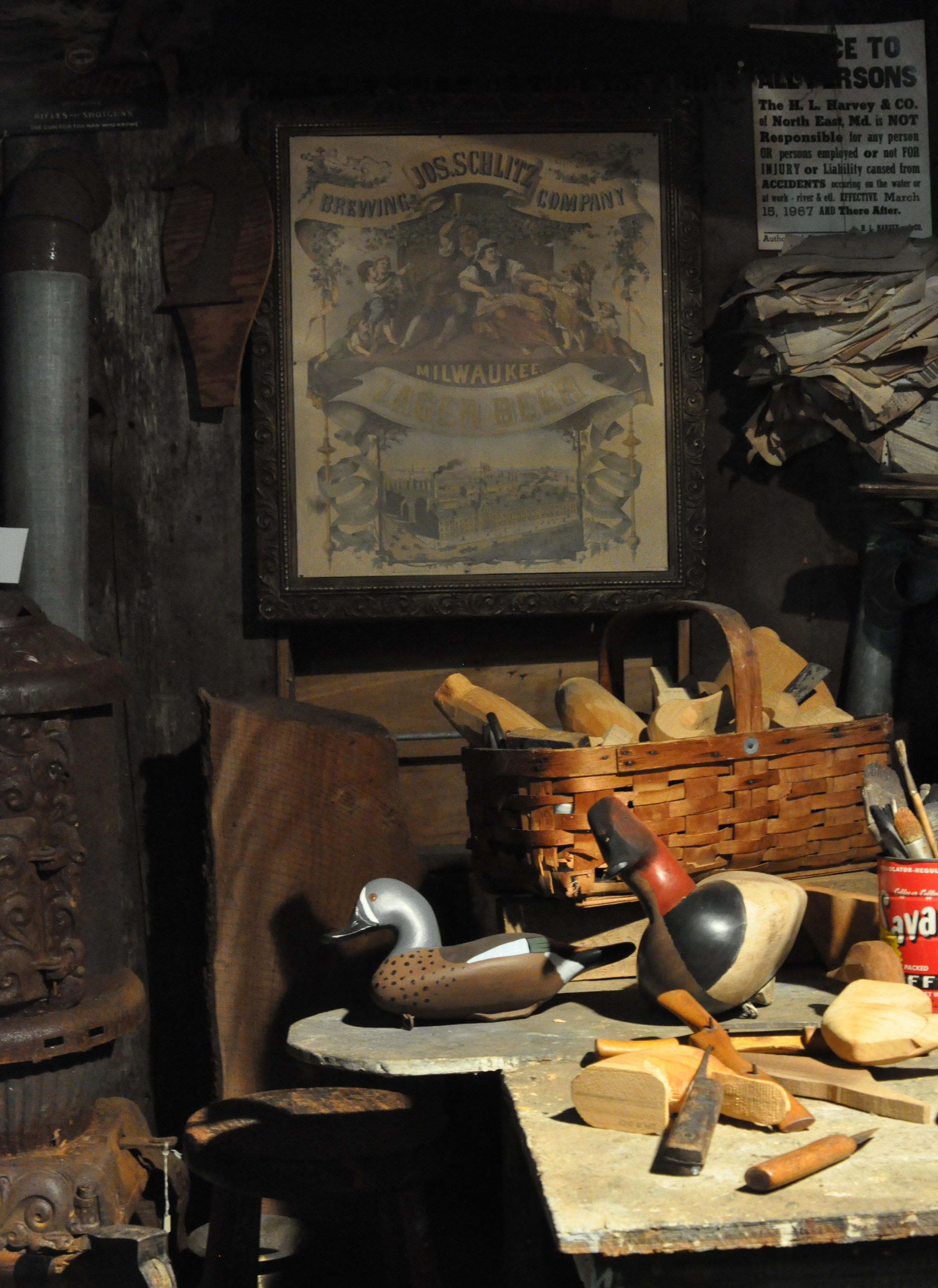 "Inside the ""Decoy Carver's Shop"""
