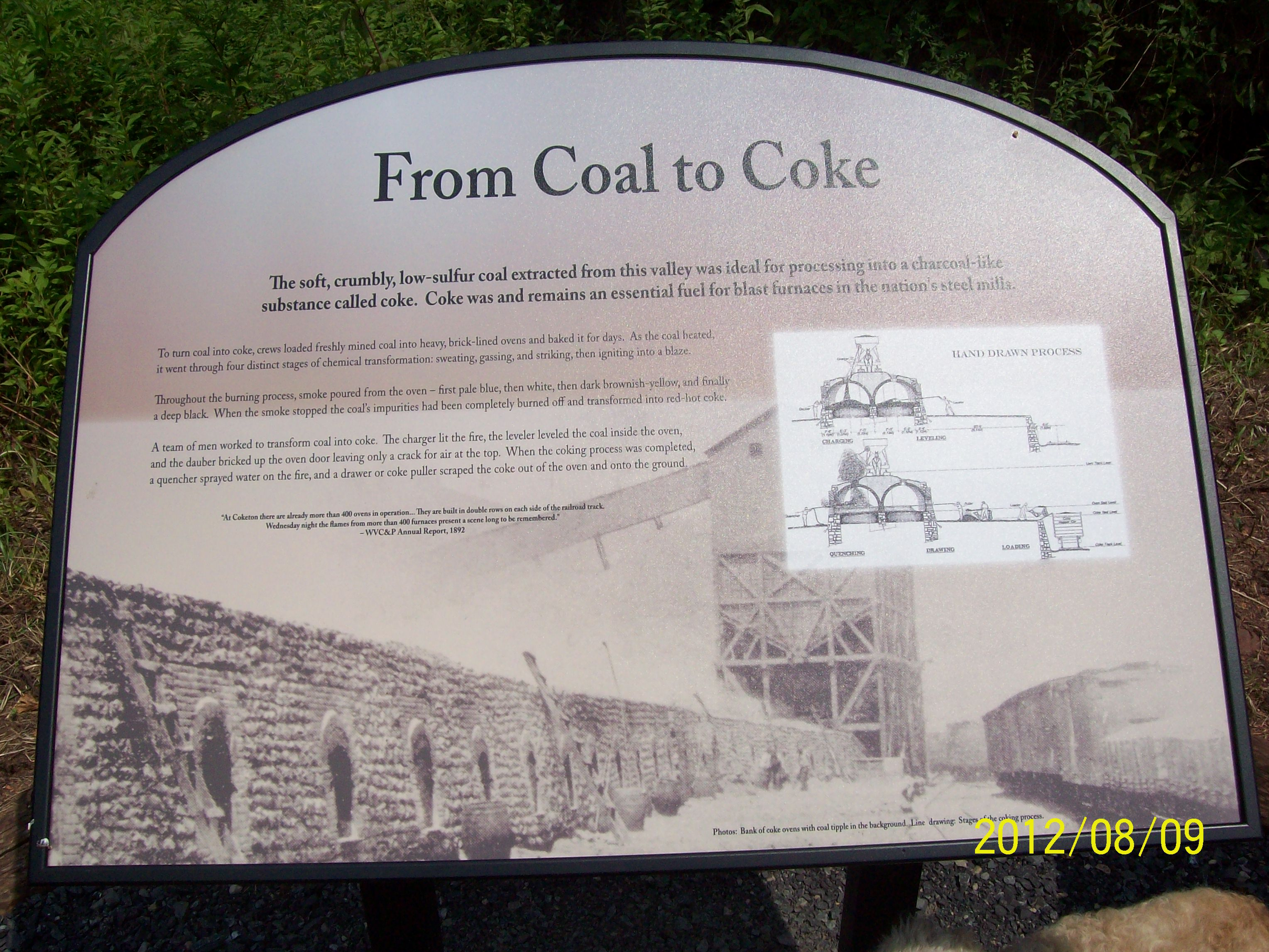first sign about the coke ovens made by FOB