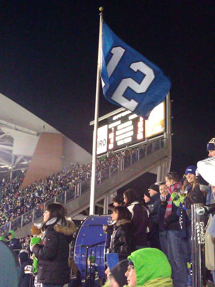 12th Man flag regularly flown at Seahawks games. In 2016, the Seahawks struck a deal with Texas A&M to use this trademarked phrase