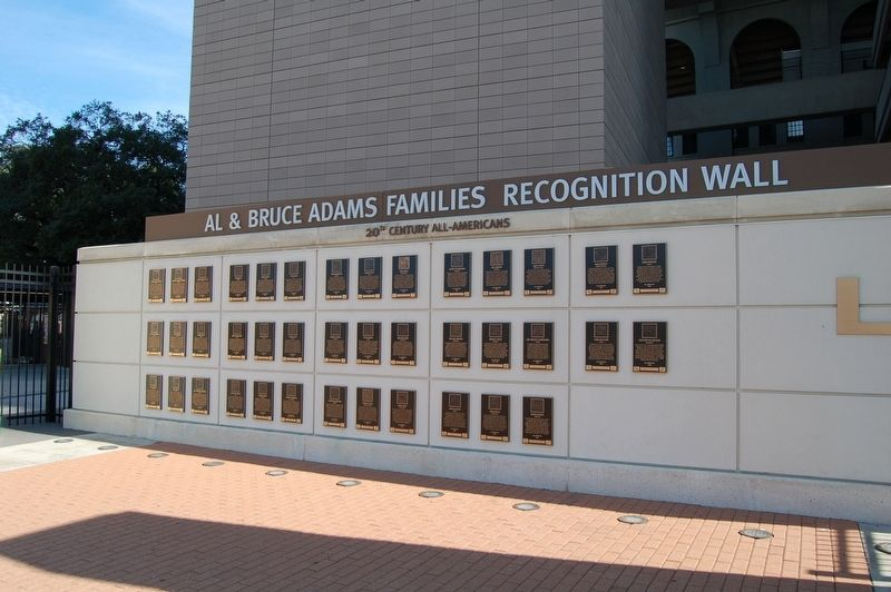 This wall of plaques details the careers of many early Tiger players including those who went on to careers beyond football.