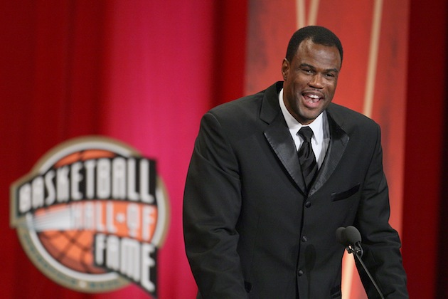 David Robinson in the Pro Basketball Hall of Fame.