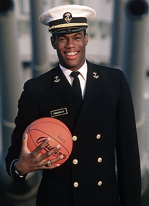 David Robinson enrolled in the U.S. Navy Academy and served a two year tour after his graduation.