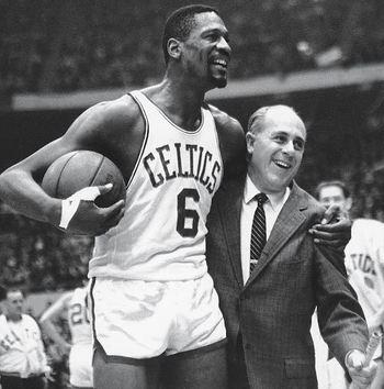 Red Auerbach was the first one in the NBA that showed his support for Russell.  The two had a life long friendship