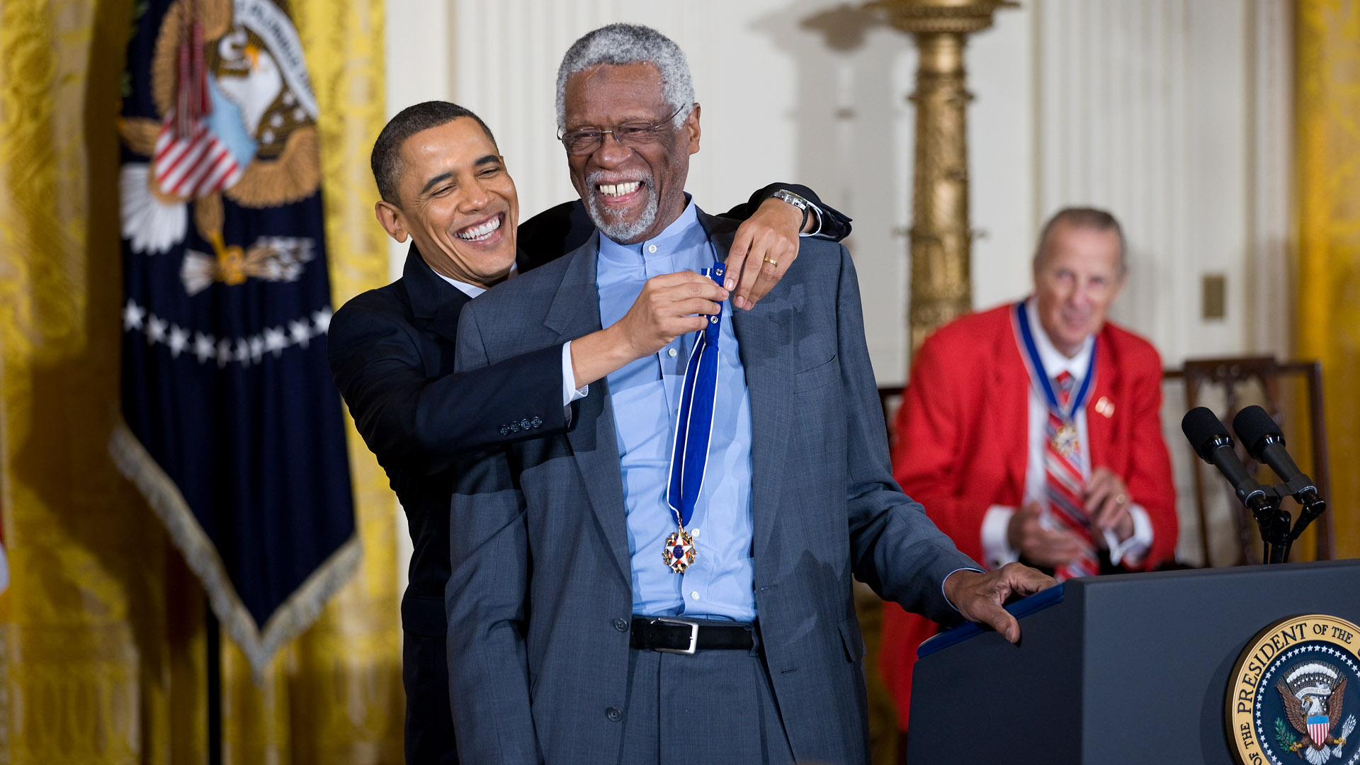President Obama awarded Russell with the Presidential Medal of Freedom in 2011.