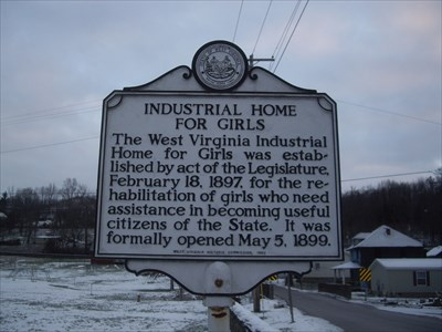 WV historical marker, located on Moore St.