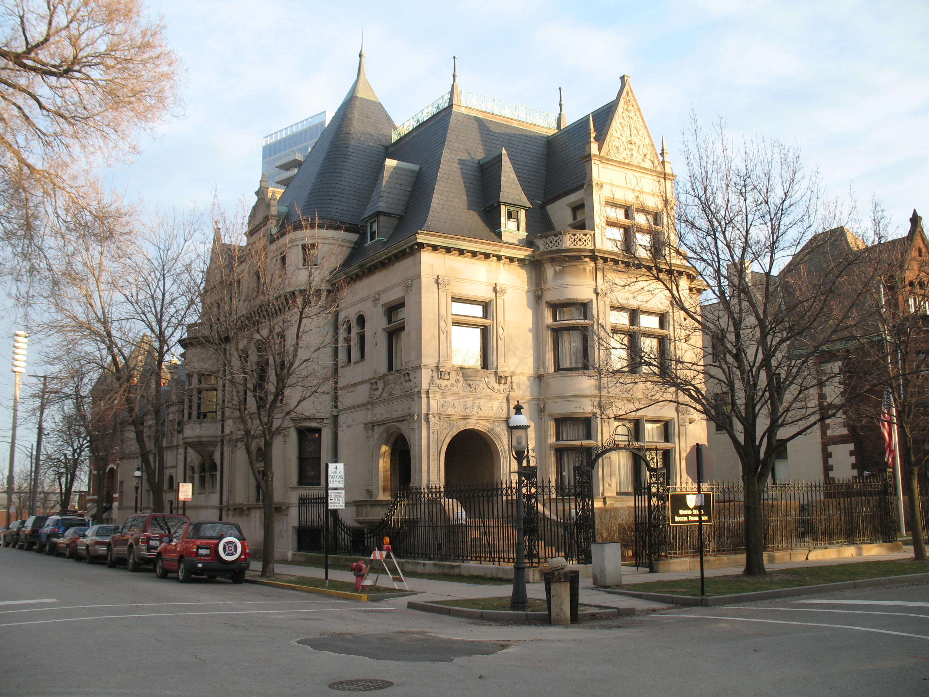 William W. Kimball House was completed in 1892, just six years after the Kimball Piano and Organ Factory was built.