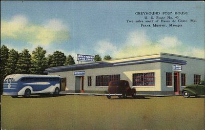 Outside View of Greyhound Bus Post House in Havre de Grace, MD