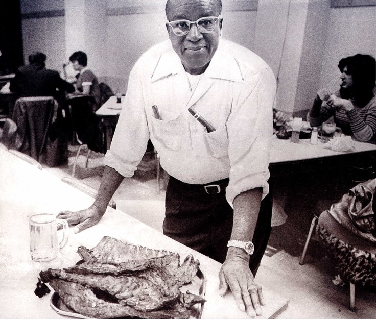 Arthur Bryant with some of his famous BBQ