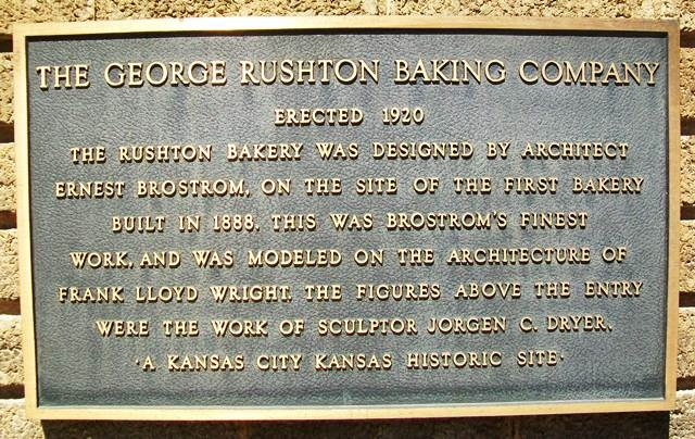 Plaque on the outside of the building