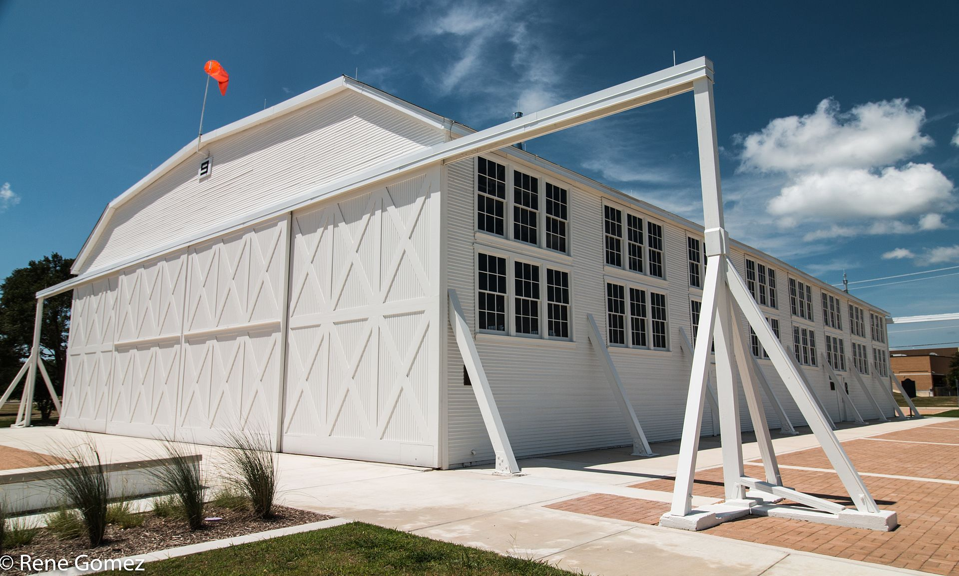 Built in 1918, Hangar 9 is the last surviving WWI hangar in the country.