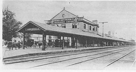 Chicago & Northwestern Railway passenger depot.