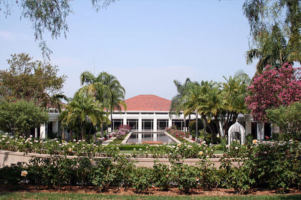 View of the Nixon Library and the Gardens