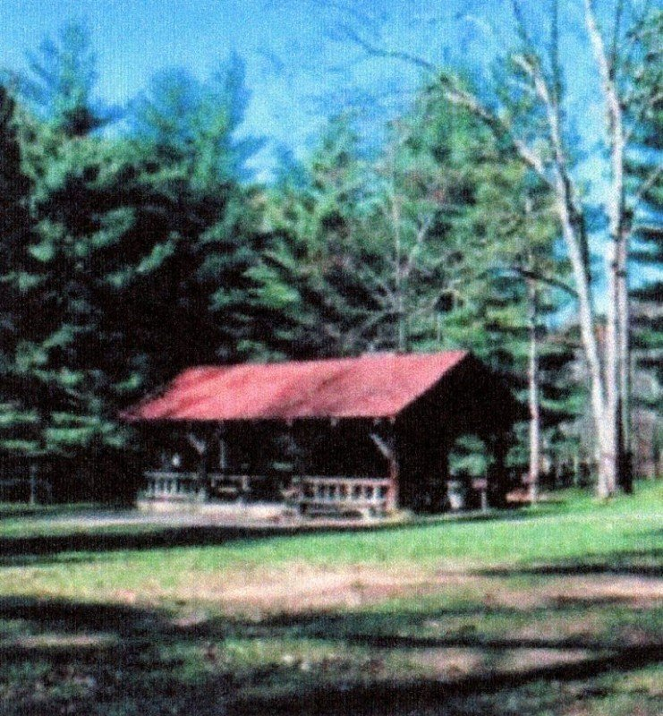 One of the Kanawha State Forest's picnic shelters.