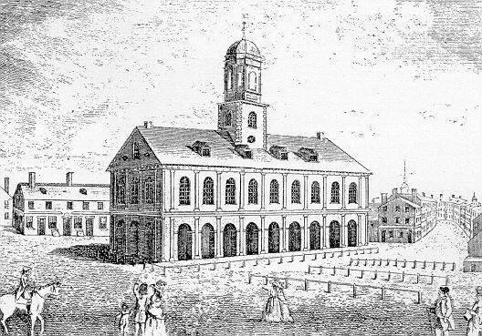 Faneuil Hall as it looked in 1742