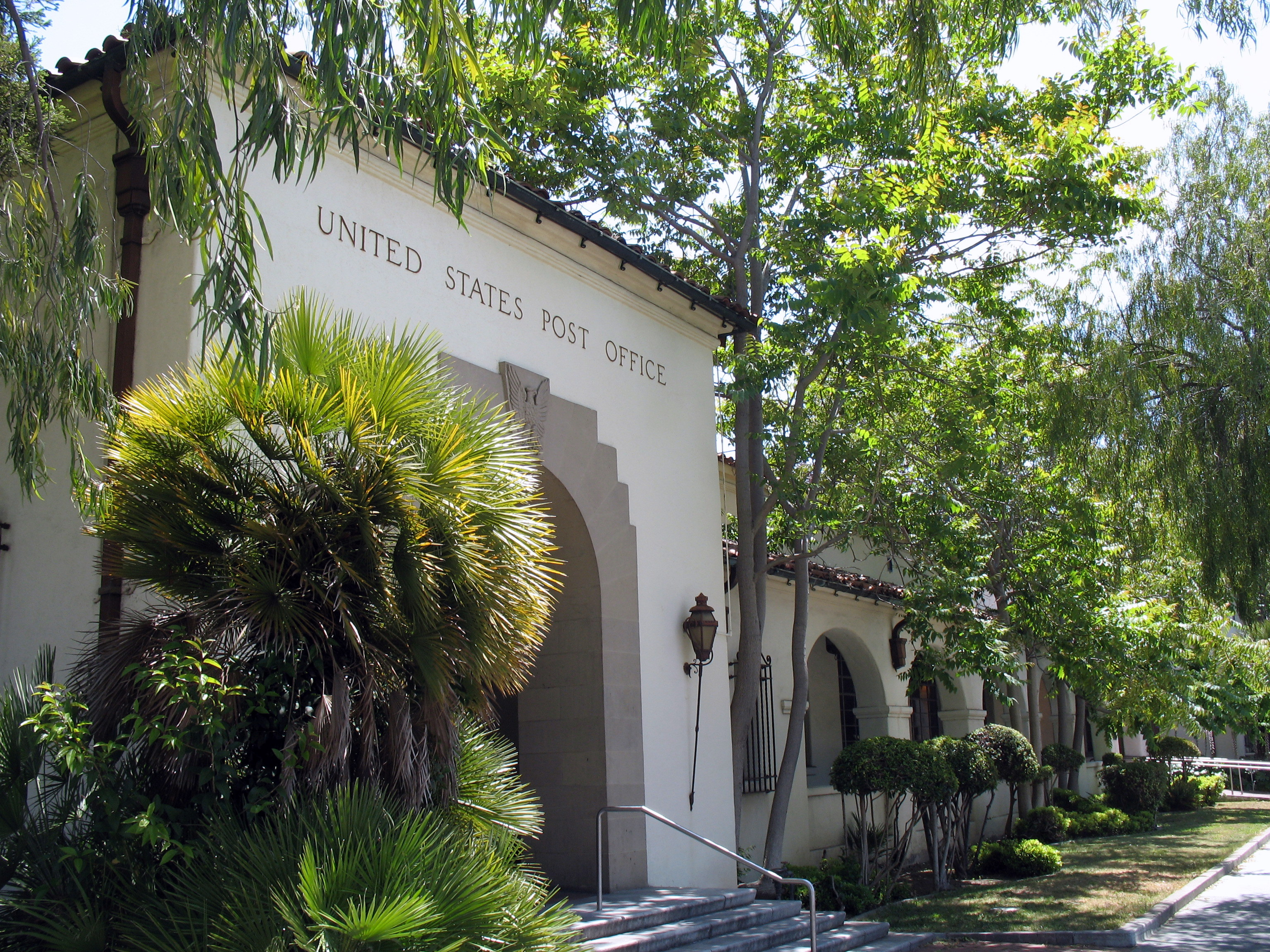 Local flora and fauna surround the U.S. Post Office building in Palo Alto.