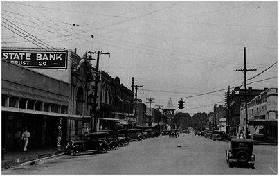 Ruston State Bank & N. Trenton Street, c. 1920s