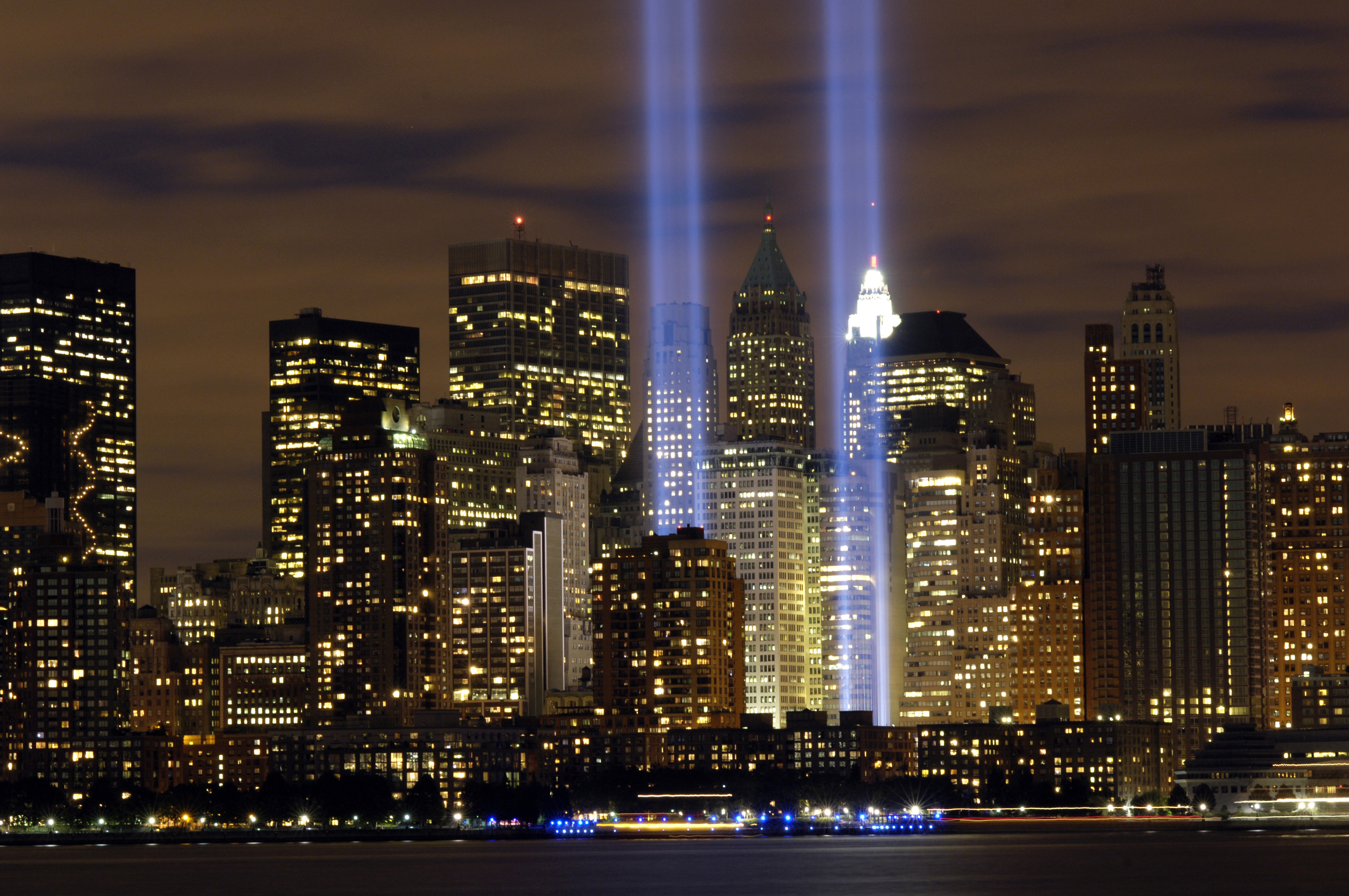 Towers of Light at the 9/11 Museum