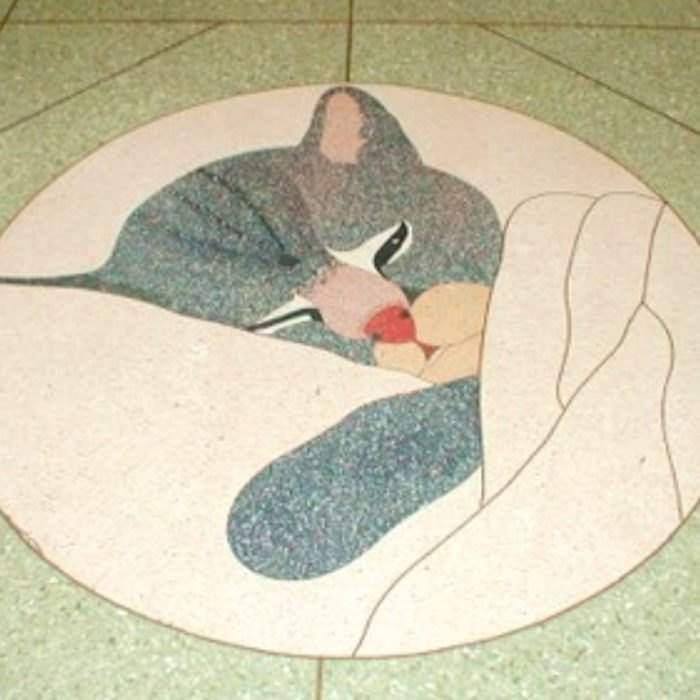 Road surface, Art, Floor, Flooring