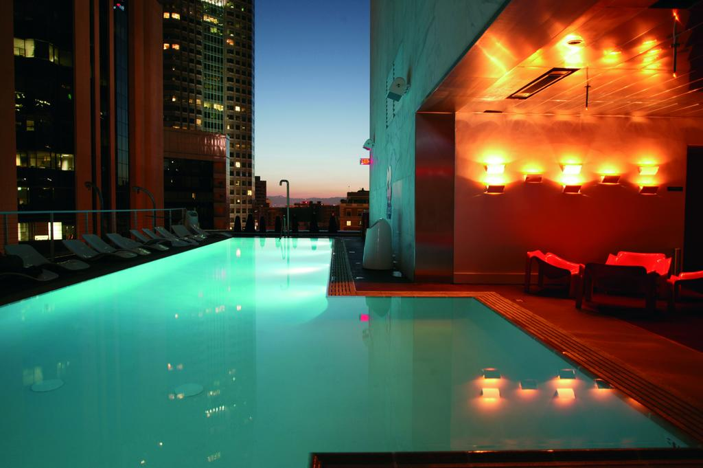 Outdoor rooftop pool at the Hotel.