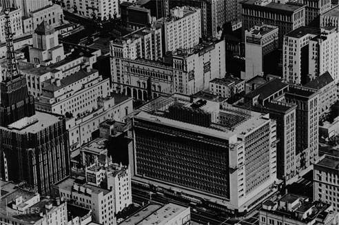 Aerial shot from 1948 showing the building's exterior almost completed.