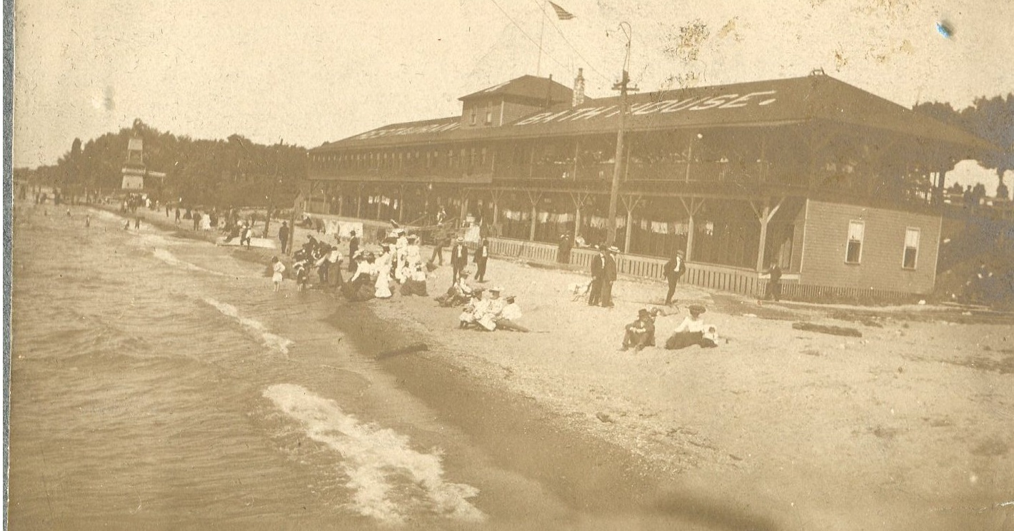 Photo of Coney Island pavilion, undated, photo courtesy of Sandra Mauck