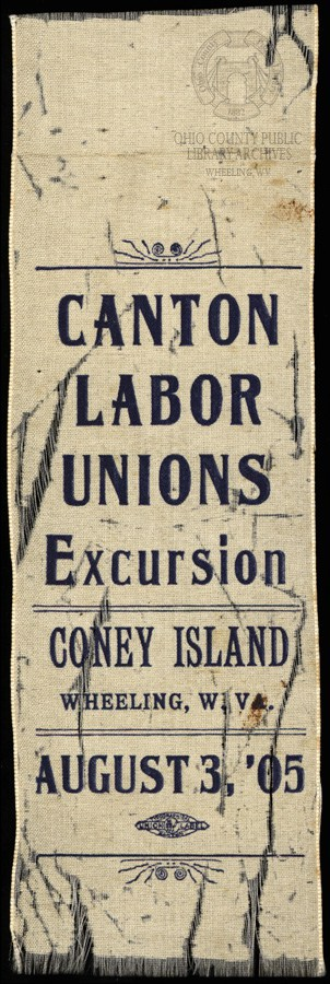Ribbon, dated 1905, courtesy of Ohio County Public Library