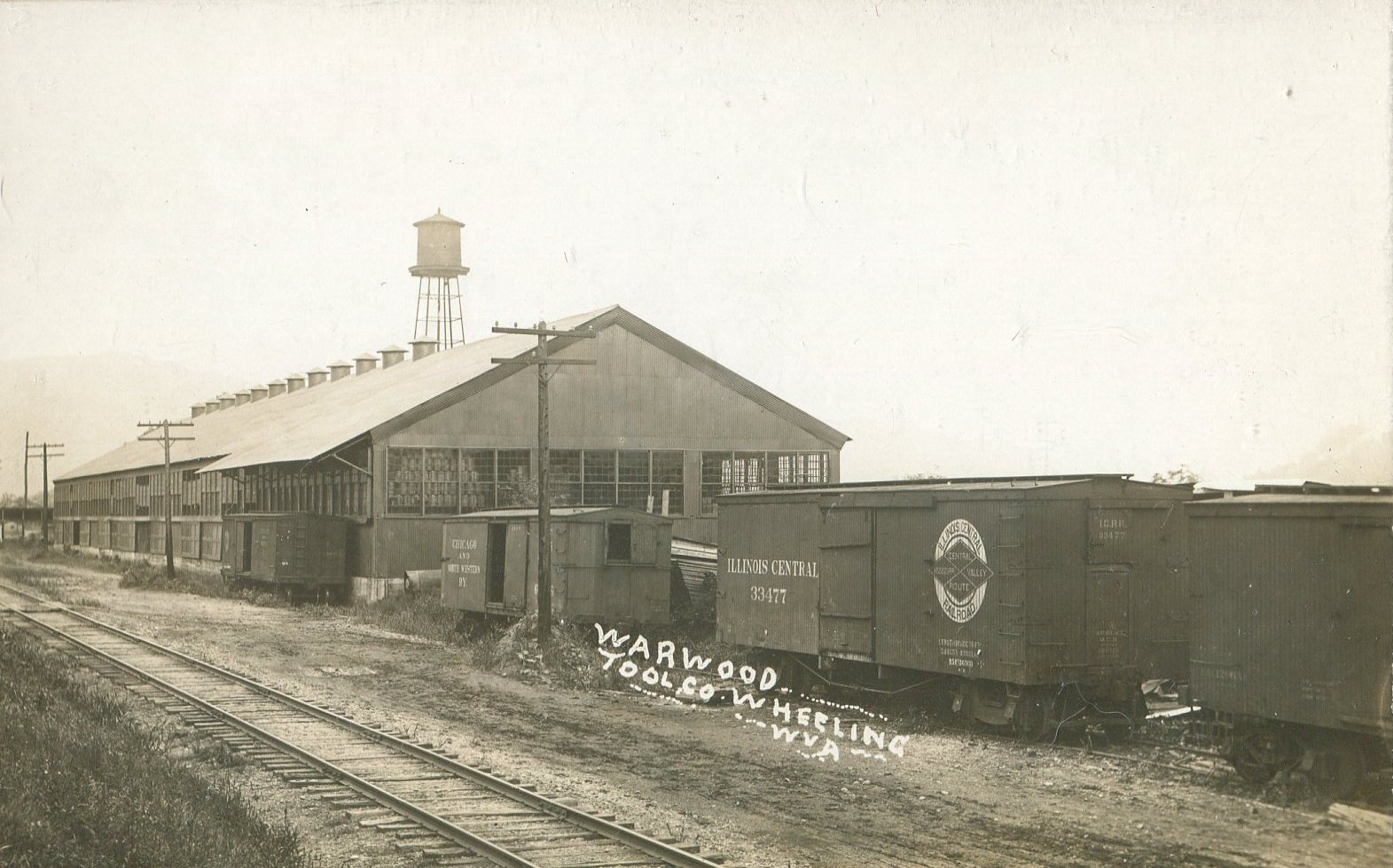 Warwood Tool Company, undated, photo courtesy of Sandra Mauck. Note the B&O Railroad tracks that ran past the factory.