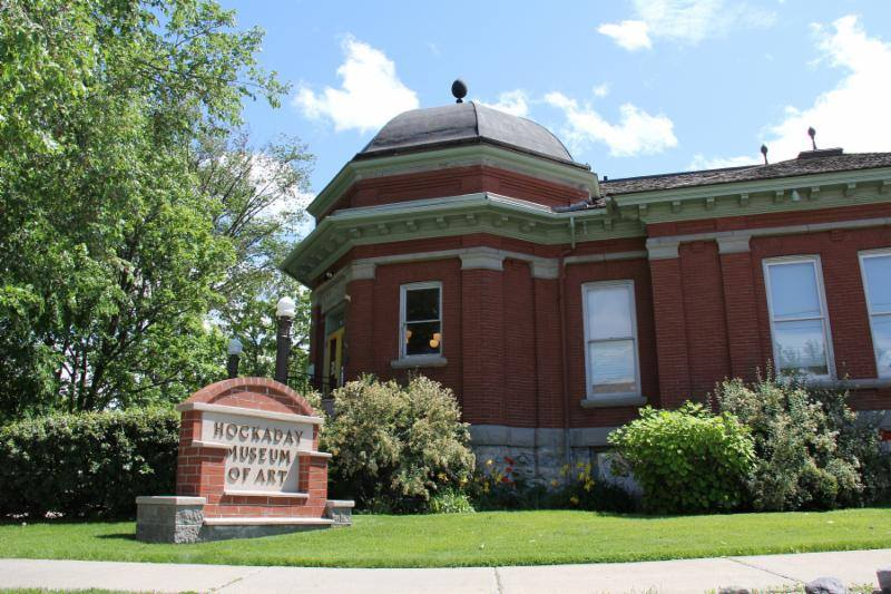 The Hockaday Museum of Art was founded in 1969 and is housed in the historic 1903 Carnegie Library.
