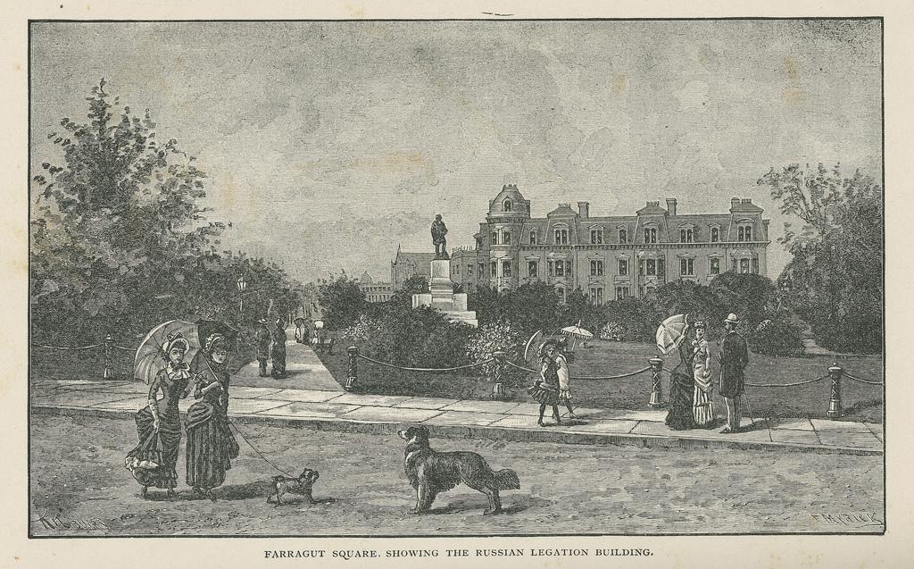 1870s rendition of Farragut Square