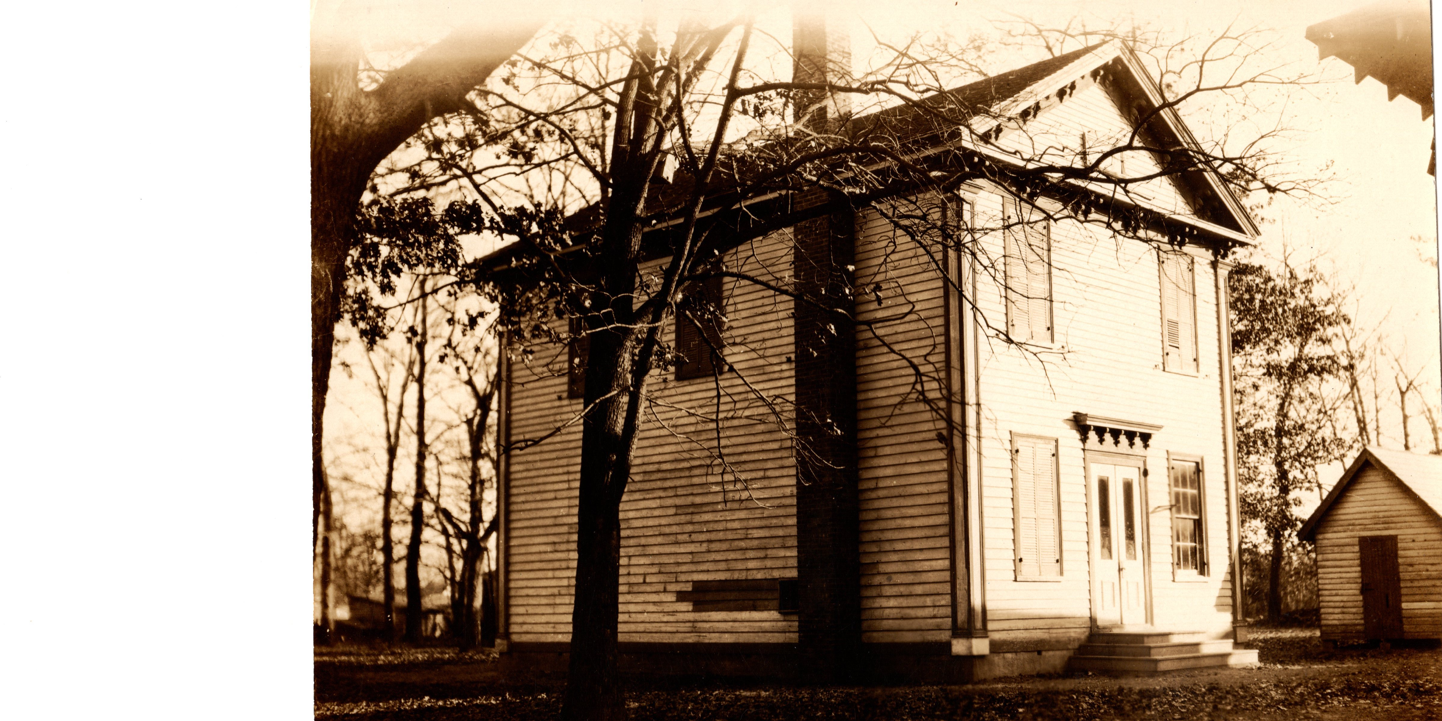 """This is a photo of what may be the very first Public School built in Upper Township, """"The Tuckahoe Academy"""", constructed in 1853; razed about 100 years later when the new Elementary School was built in Marmora in 1953."""