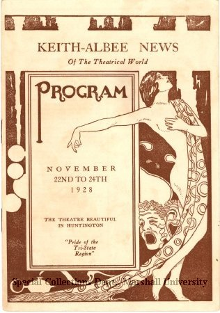 "Program for Keith-Albee Theatre showing of ""His Private Life' starring Adolphe Menjou, November 1928,"