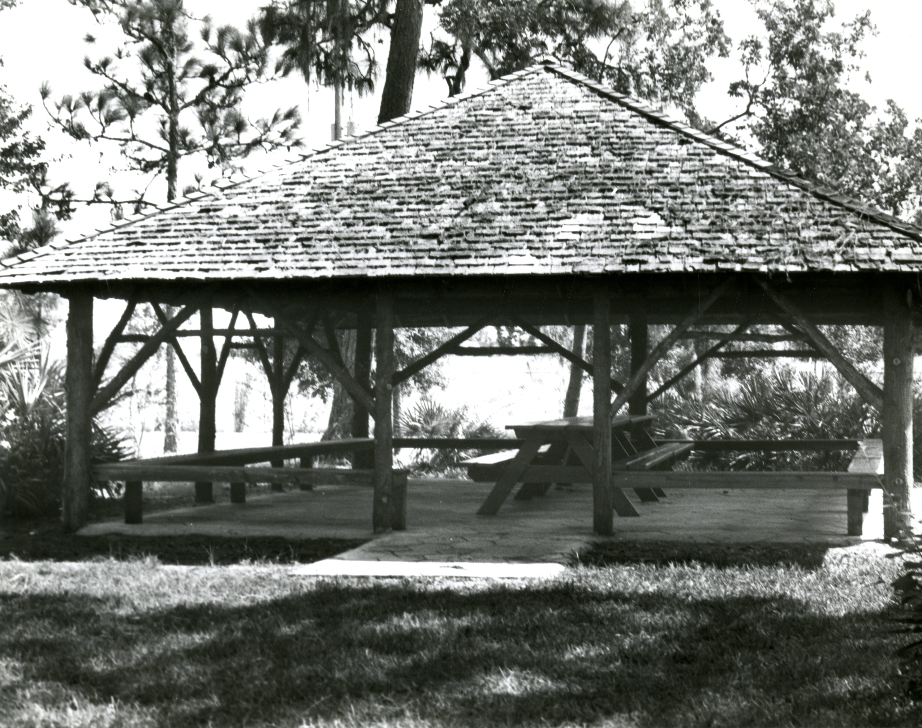 Safford Pavilion at Heritage Village, Largo, Florida, 1982.