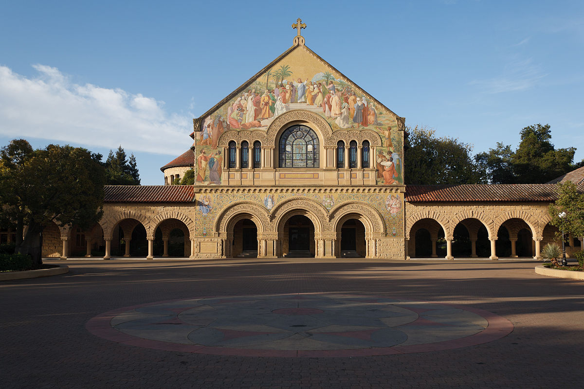 Stanford's Memorial Church sits on the university's main quad and has done so since 1903.