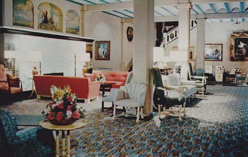 San Marcos Hotel Lobby, c. 1950