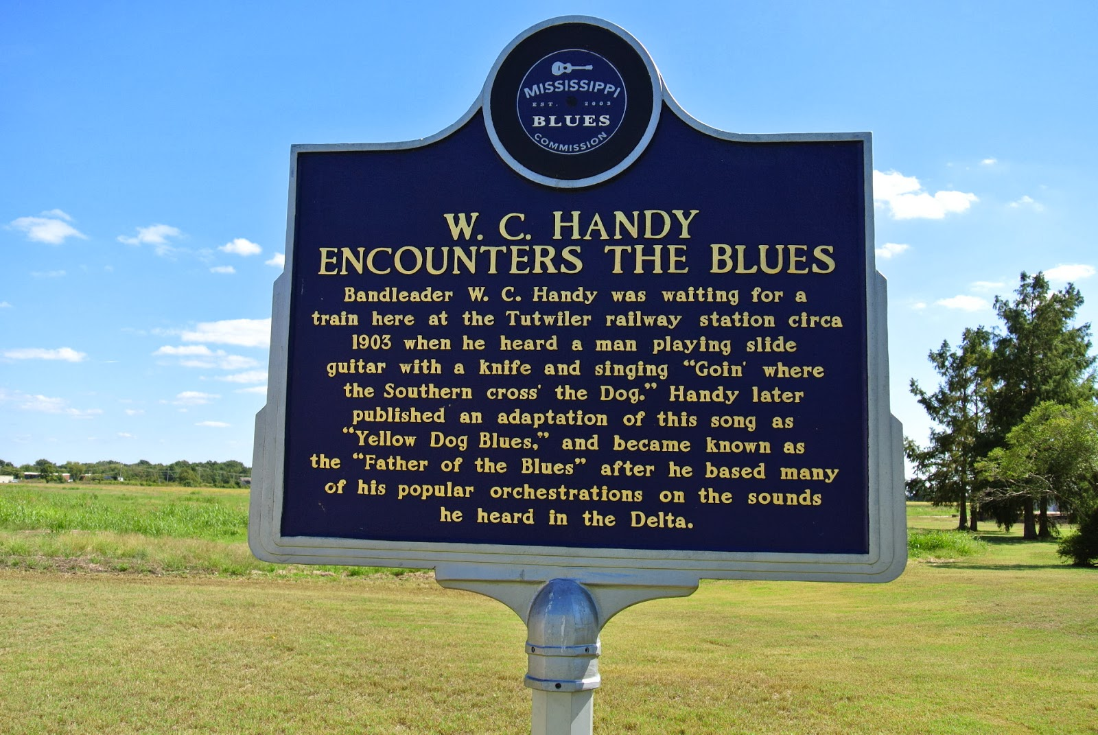 Part of the Mississippi Blues Trail, this historical marker was dedicated by the Mississippi Blues Commission in 2009.