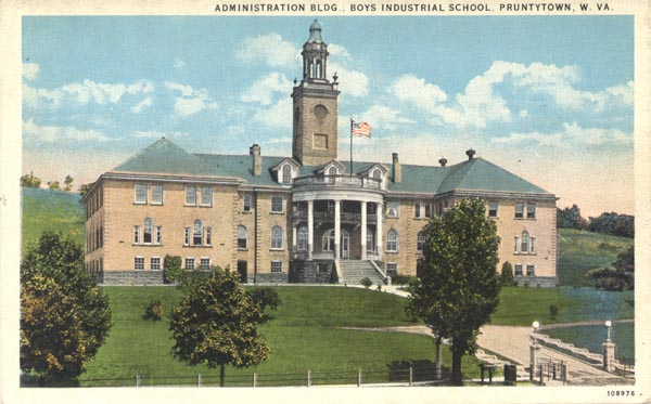 This early 20th-century postcard depicts the administration building