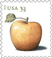 Golden Delicious Apple Stamp