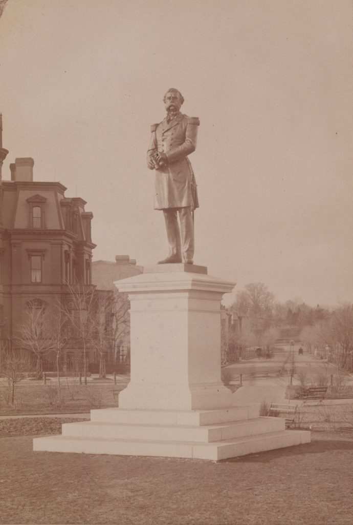 The Samuel DuPont memorial in DC. Circa 1900. Courtesy of the Hagley Museum and Archive