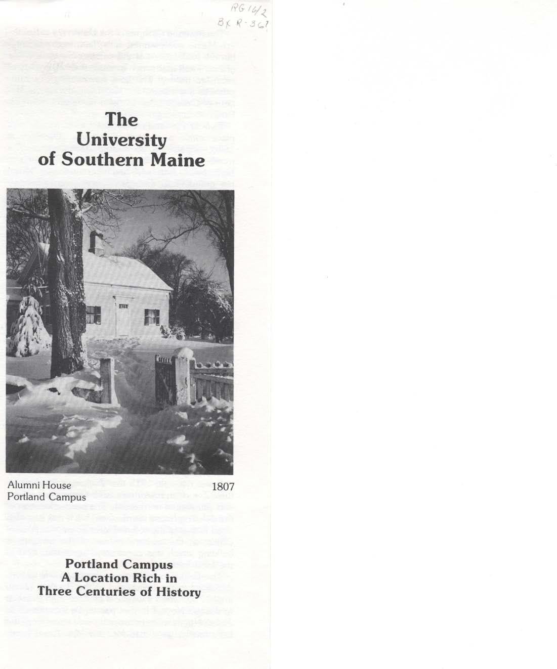 A rare photo of the barn itself, taken in 1817, sourced from an informational brochure published by the University of Southern Maine