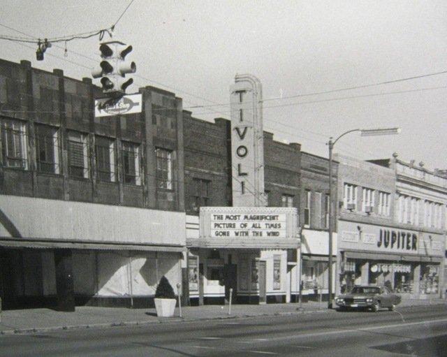 The original Tivoli Theatre, circa 1939.