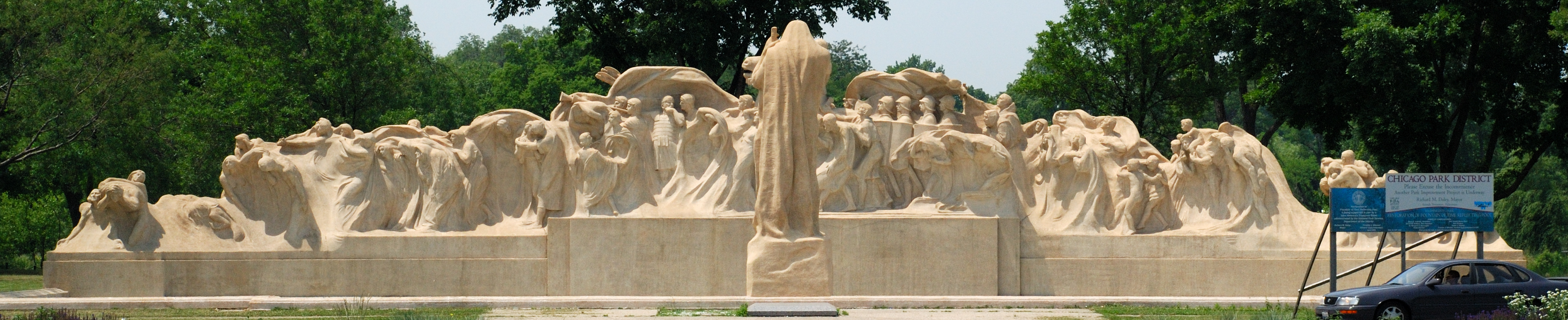 Fountain of Time (1910-22), Midway Plaisance, Chicago, Illinois.