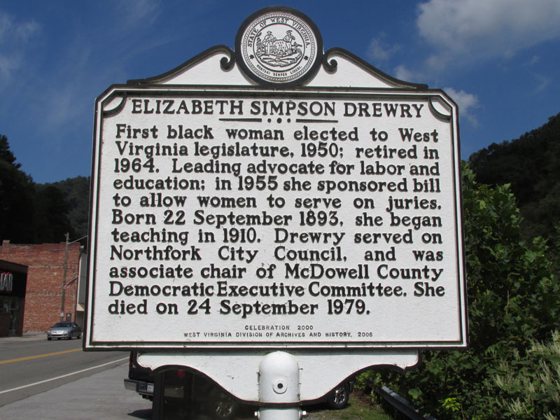Historical marker located in Northfork, WV, in McDowell County.