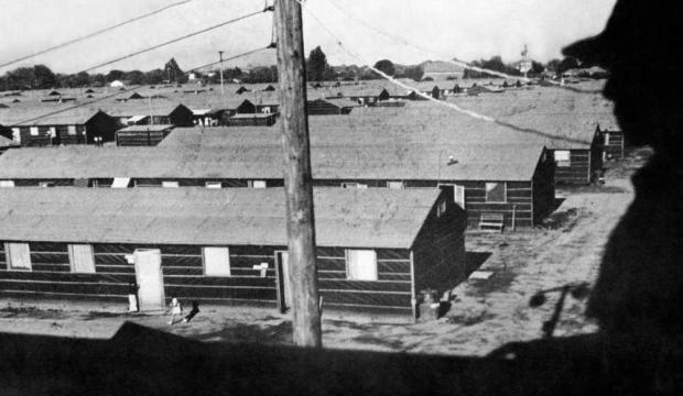 Barracks at the Fresno detention center
