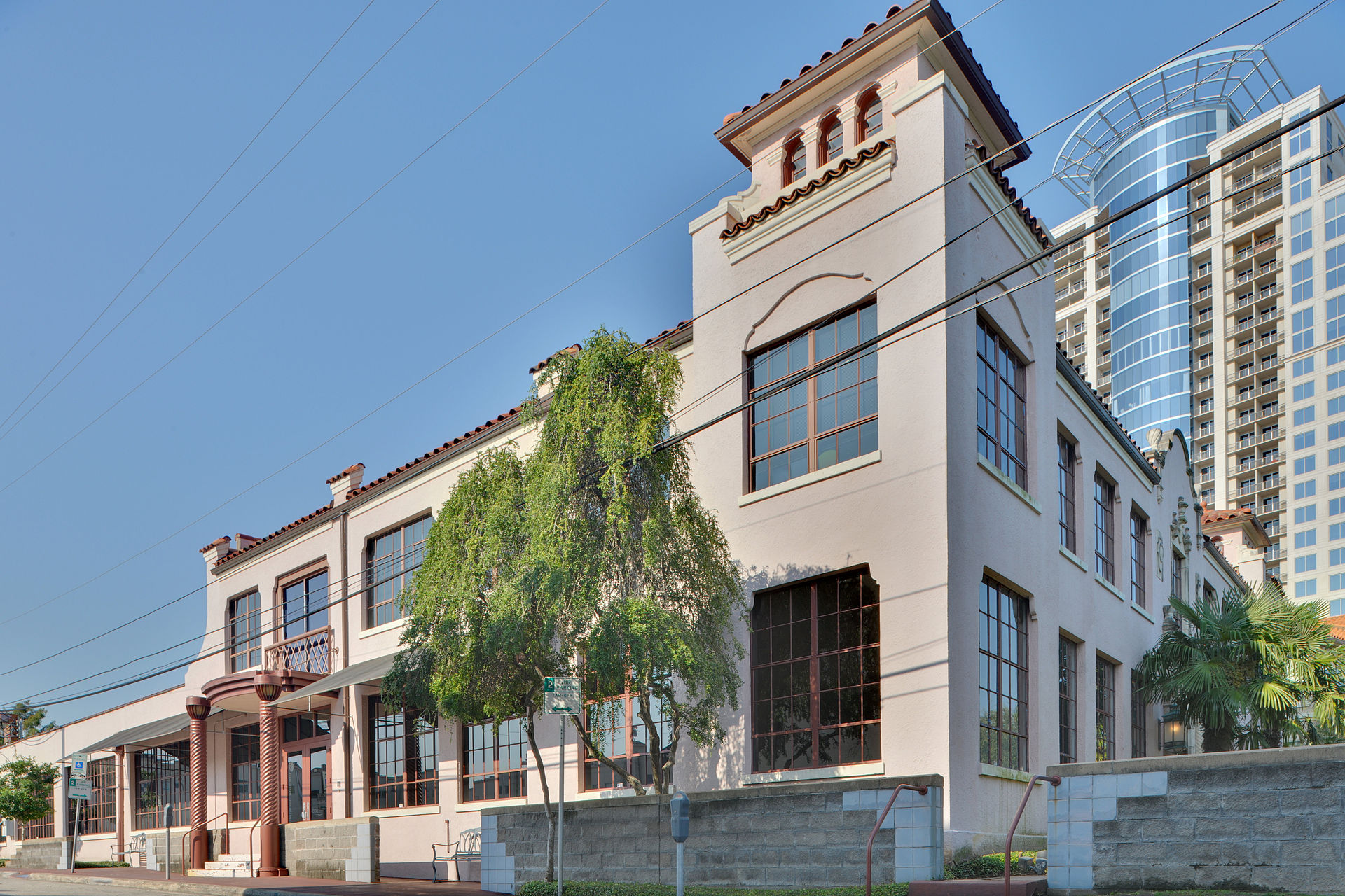 The former Star Engraving Building was constructed in 1930 and is now the Houston Center for the Arts.