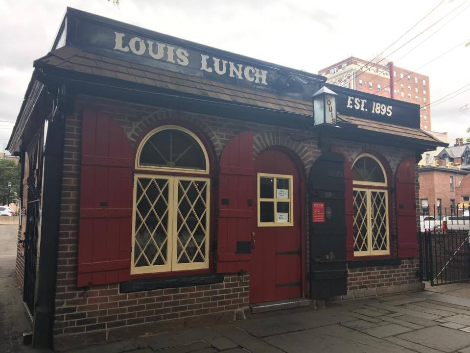 Louis' Lunch currently stands on Crown St.