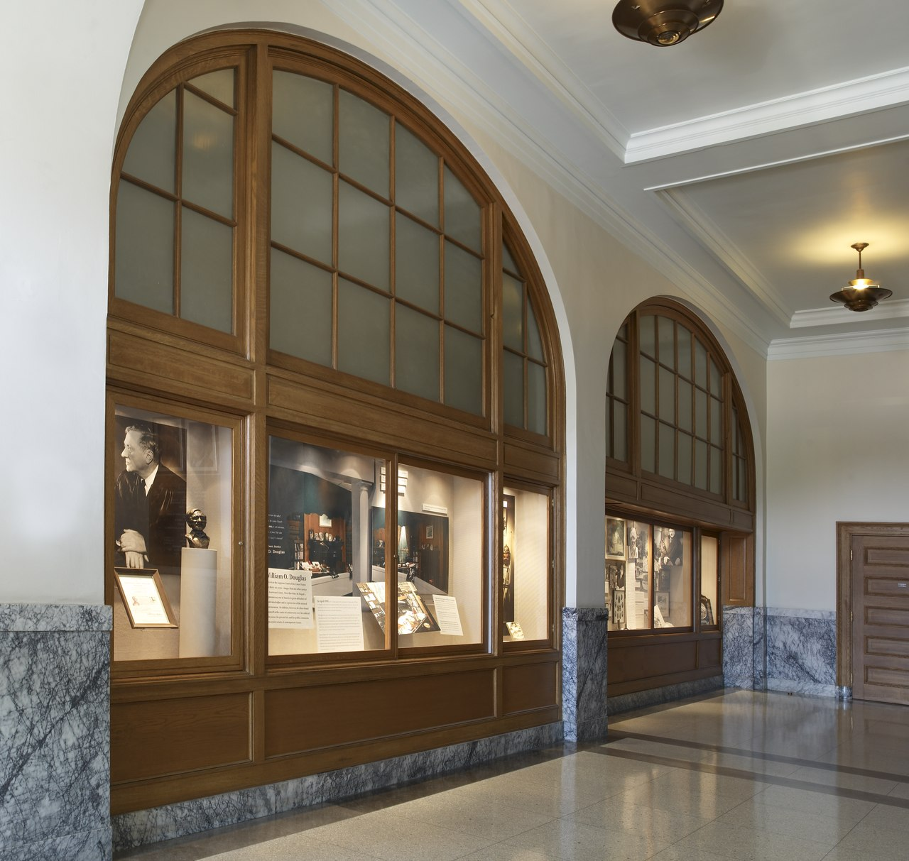 The building features exhibits describing the life and legacy of Justice Douglas.